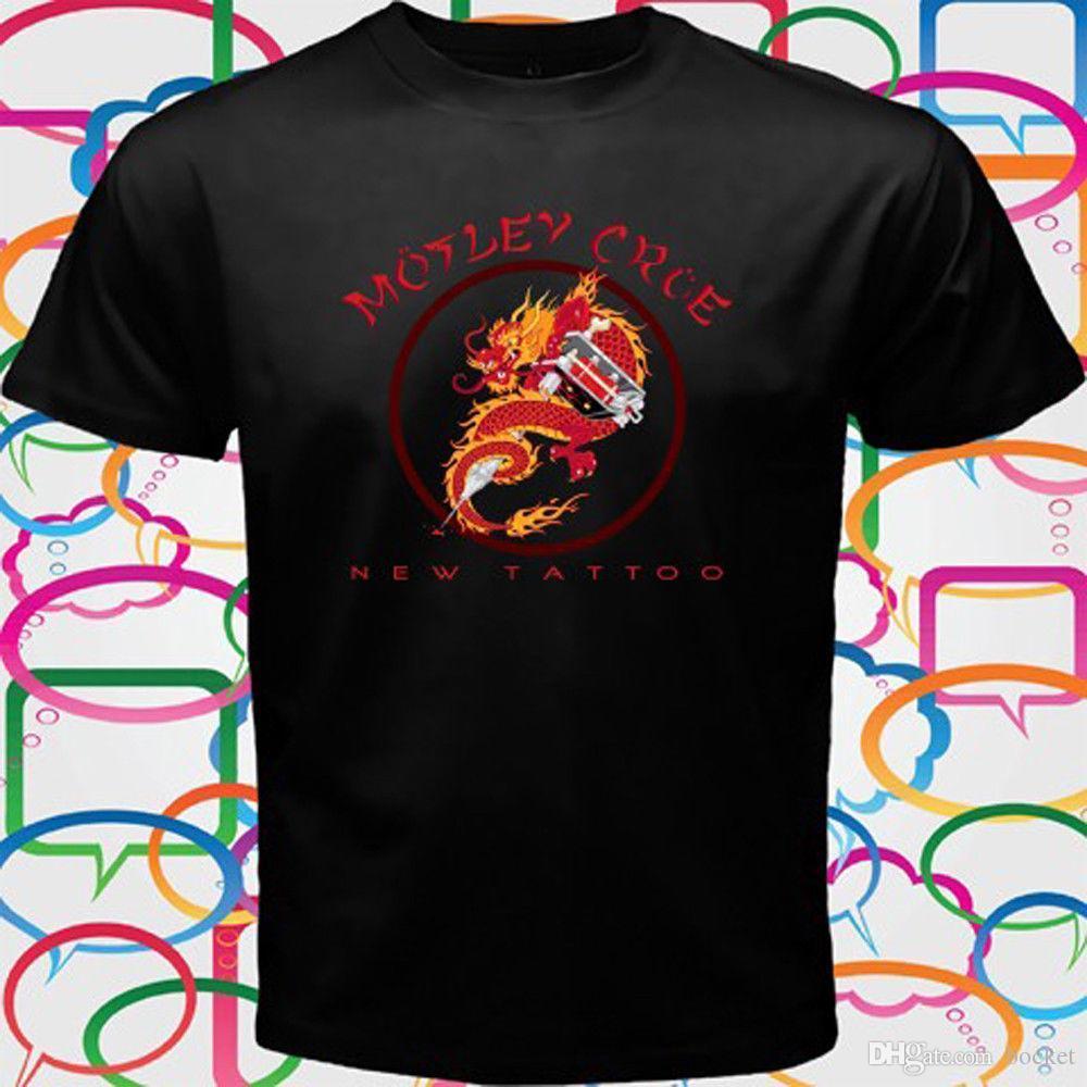 45e0b50da Nouveau T-shirt noir pour hommes de la marque MOTLEY CRUE NEW TATTOO Heavy  Metal Band taille S à 3XL