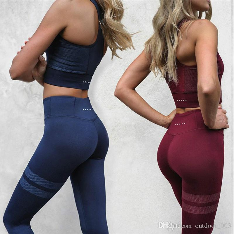 Explosive Yoga clothing set Hot women's Yoga vest trousers sports fitness set factory direct free shipping
