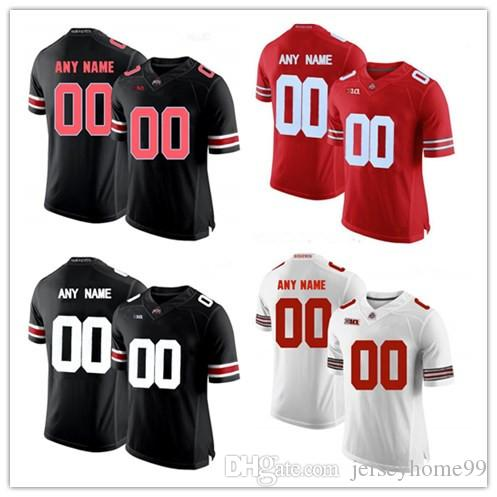 4f0d1875762 2019 Custom 2019 Ohio State Buckeyes White Gray Black Jersey Fields Haskins  George Dobbins Red OSU College Football Jersey Stitched From Jerseyhome99
