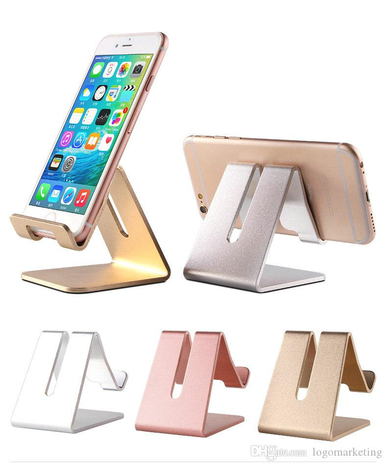 Toute la vente Universal Mobile Phone trou de trépied Tablet Support de Bureau En Aluminium Support En Métal Pour iPhone iPad Mini Samsung Smartphone Tablettes Ordinateur Portable
