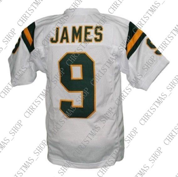 cheaper e74e8 a350f Custom Lebron James #9 Irish High School New Men Football Jersey White  Stitched Any name number XS-5XL