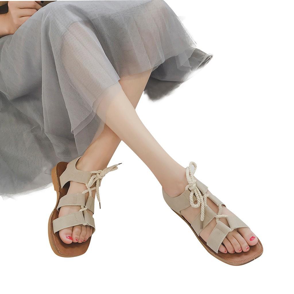 5b6941d9a Cross-tied Summer Sandals for Women Roma Soft Flat Sandals Beach ...