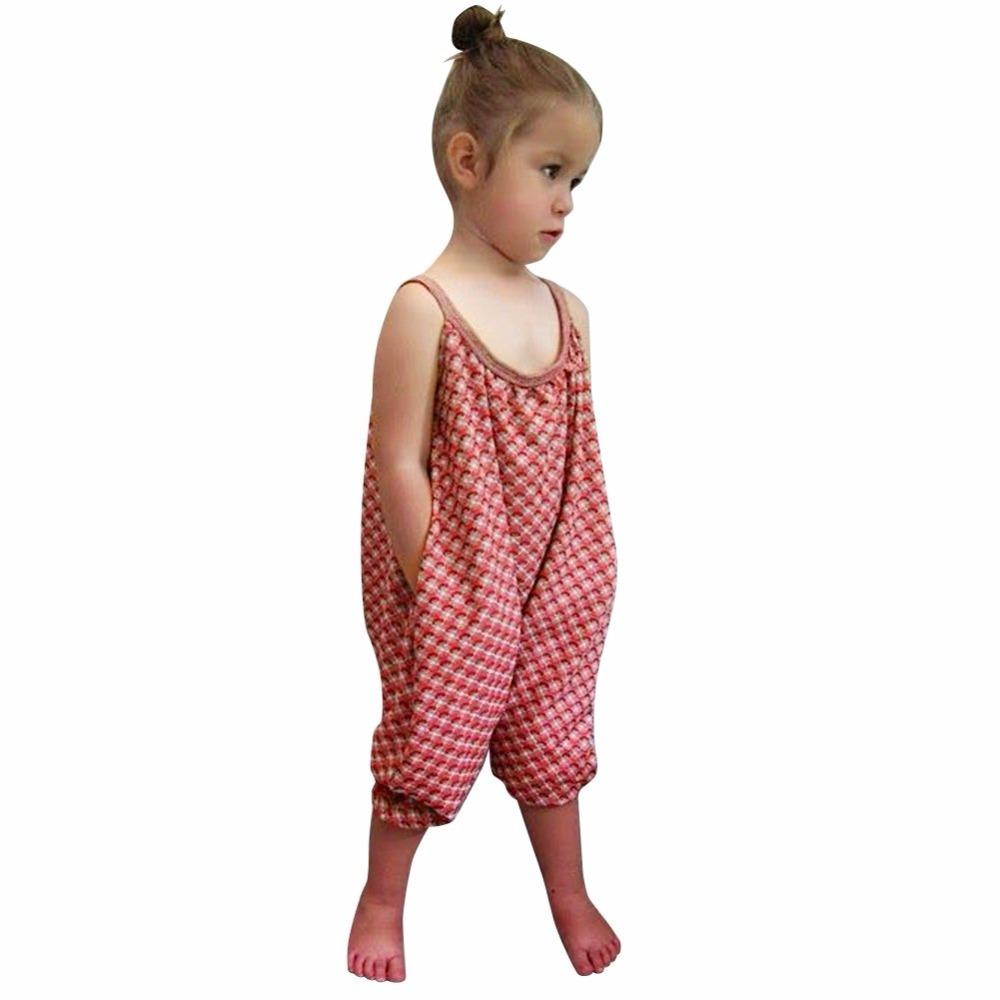 Fashion Enfant Bébé Fille Bretelles Barboteuse Combinaison Pièce Pantalon Vêtements
