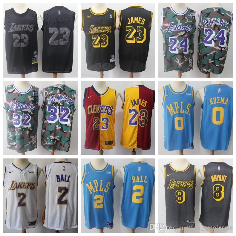 the latest 3a2a9 abaa1 james Los Angeles Men Laker 23 LeBron jersey James jersey Kuzma 0 Kyle  Bryant 14 Brandon Ball Basketball Wear