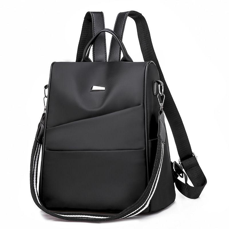 da96866f2c5b 2019 Fashion2018 New Fashion Backpack For Teenage Girls Casual Women Oxford  Cloth Backpacks School Bag Female Zipper Travel Shoulder Bags Hunting  Backpacks ...