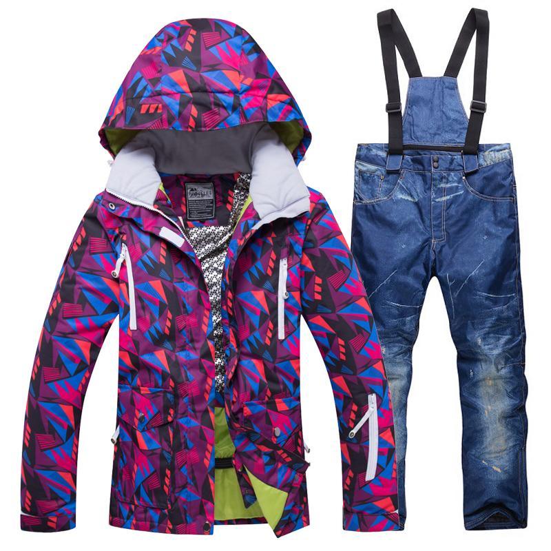 New Women Winter Outdoor Ski Suit Female Snow Sports Ski Jacket+ ... bebe01c0c