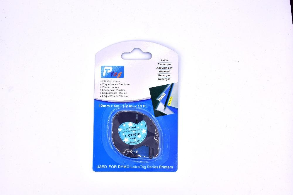 10pcs colorful dymo letratag 91200 L-CT301P paper label dymo letratag tape  for label maker machine