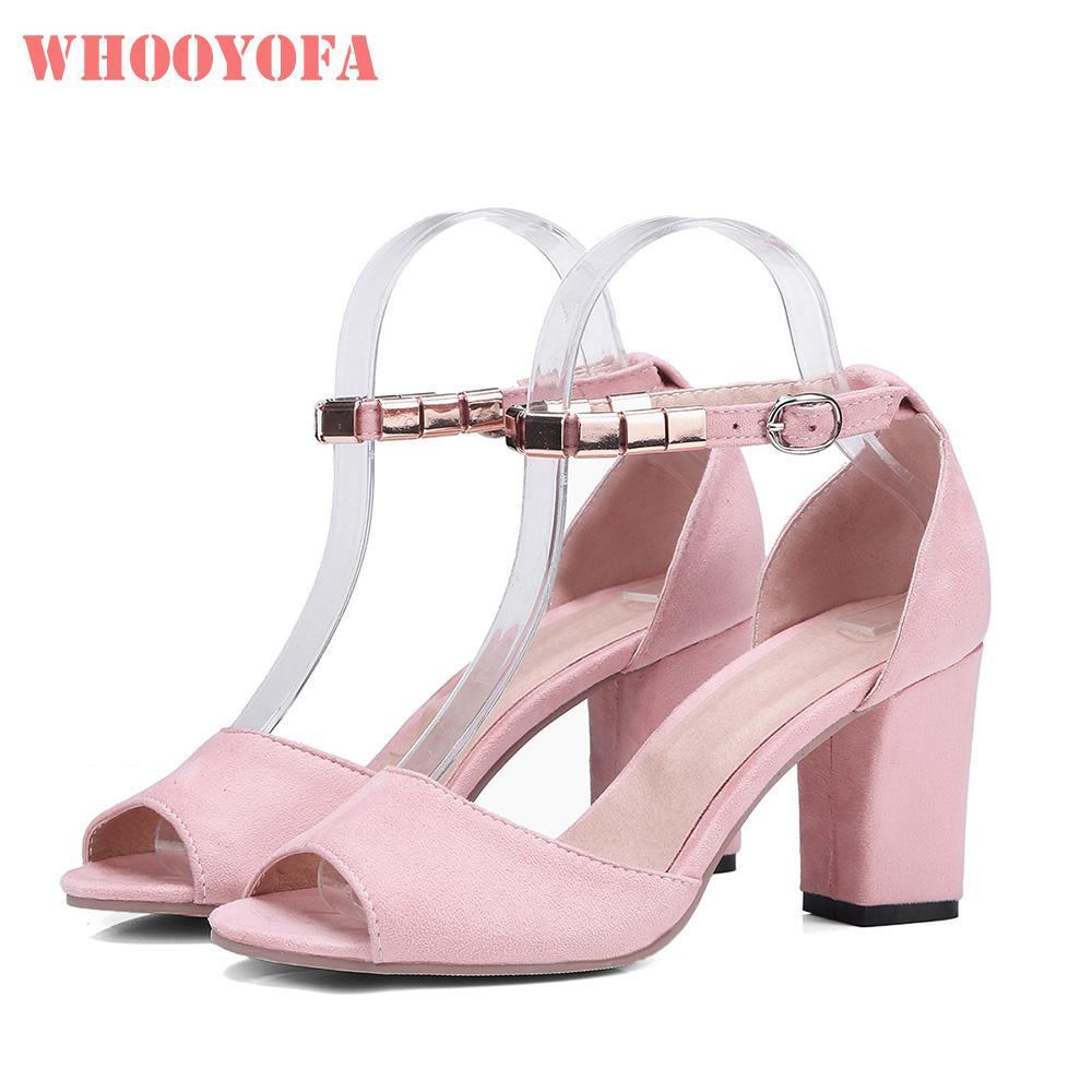 06070c628df61 Compre Venta A Estrenar Verano Dulce Rosa Negro Mujer Sandalias Sexy 3  Pulgadas Tacones Altos Señora Zapatos Nupciales WS379 Más Tamaño Grande 10  30 43 45 ...