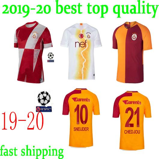 new arrival 31212 cb2c5 2019 new Galatasaray Soccer Jersey 19 20 GOMIS CIGERCI BELHANDA FERNANDO  FEGHOULI SNEIJDE Oztekin Home away Football Shirt