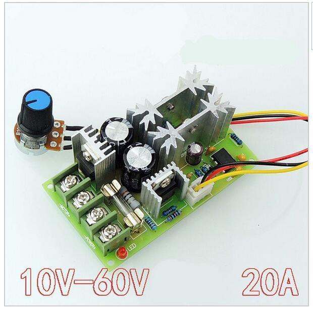 Motor Controller 1pcs Universal Dc10-60v Pwm Hho Rc Motor Speed Regulator Controller Switch 20a Electrical Equipments & Supplies