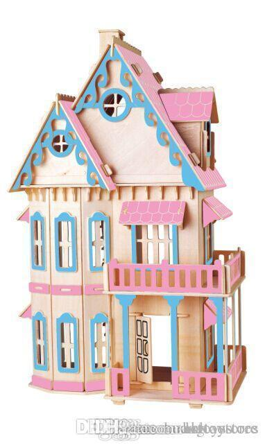 Muñecas Educativos Casa De Por Venta Montaje Juguetes Madera Al Miniatura Bohs Niños 3d Modelo Maquetas Diy Construcción Mayor Gótica Rj4LA5