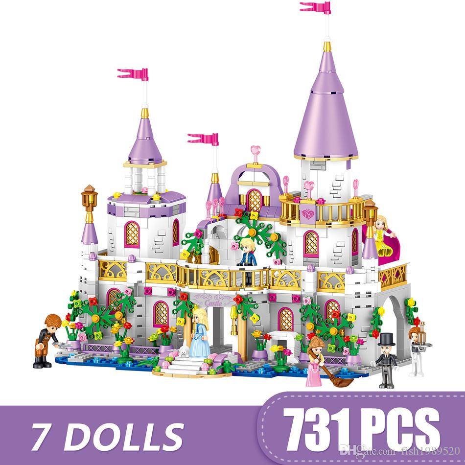 731PCS Small Building Blocks Toys Compatible with Legoe The Windsor Castle Gift for girls boys children DIY