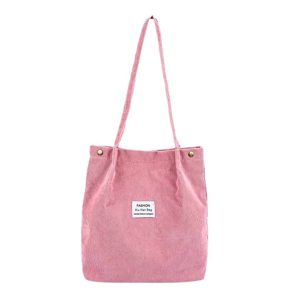 f83da6eebf45 Women Fashion Corduroy Handbag Shoulder Bag Totes Pure Color Shoulder Bag  Original Wild Handbag Cloth Bags Bolso MujerA10 Red Handbags Pink Handbags  From ...