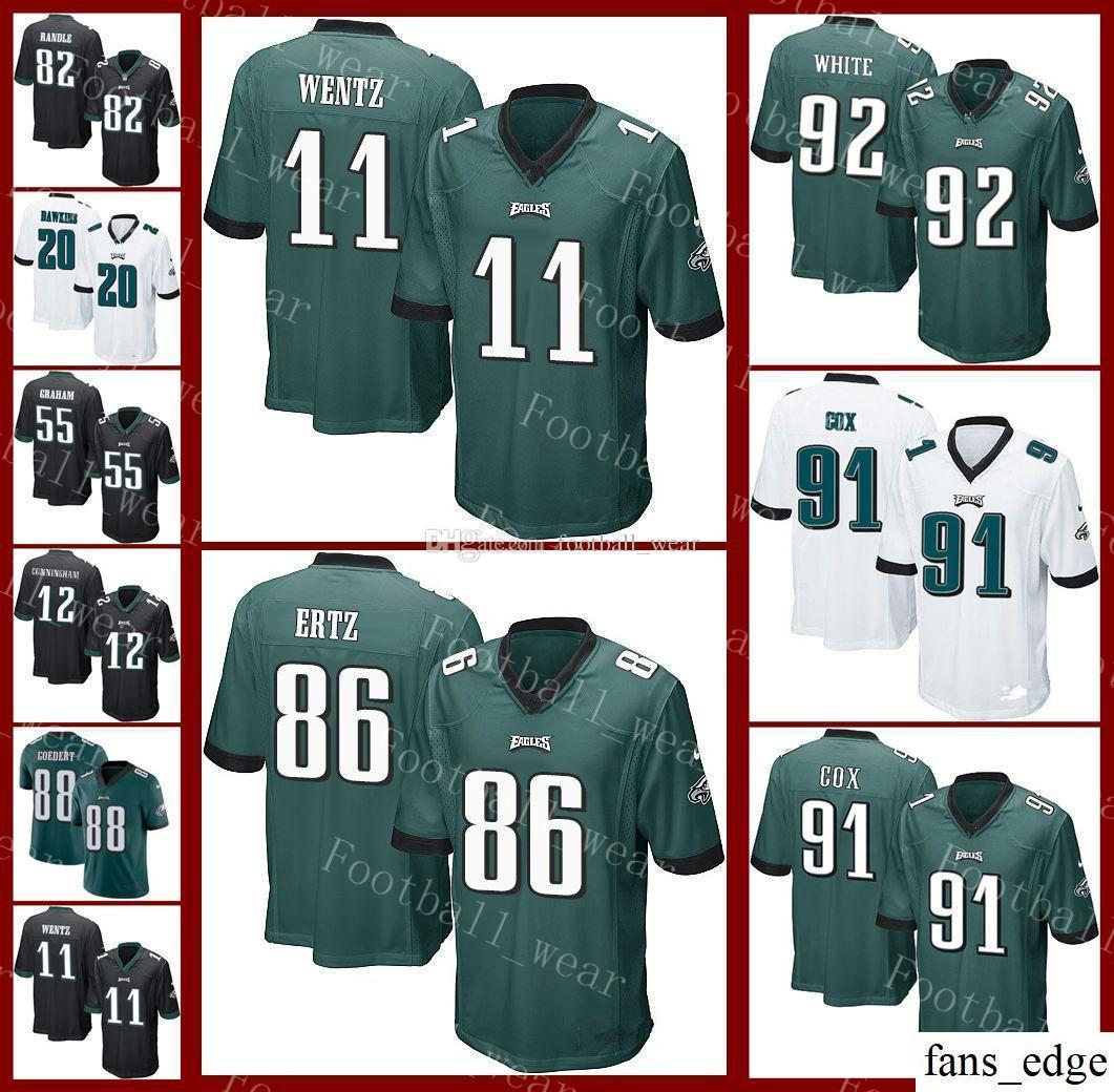 100% authentic a9295 cef9d Men Women Youth Philadelphia Eagles Jersey 11 Carson Wentz 20 Brian Dawkins  86 Zach Ertz 27 Malcolm Jenkins 62 Jason Kelce Football Jerseys
