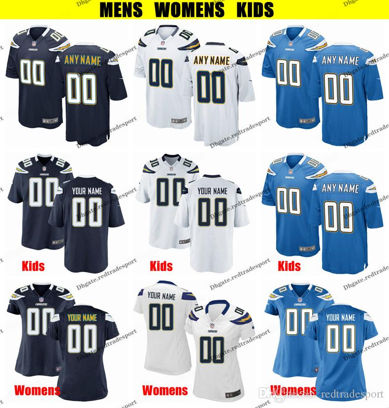 386eef20 Customize Los Angeles Mens Womens Kids Chargers 33 Derwin James Keenan  Allen 17 Philip Rivers Desmond King 28 Melvin Gordon Football Jersey