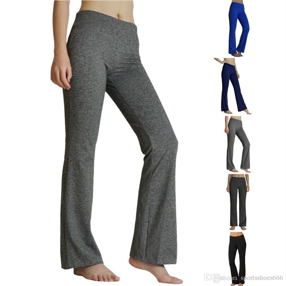 e908fd875e05f YIDAINLINE Women's Yoga Pants High Waist Inner Pocket Bootcut Leggings  Workout Running Pants Sports Fitness Yoga Leggings #40441