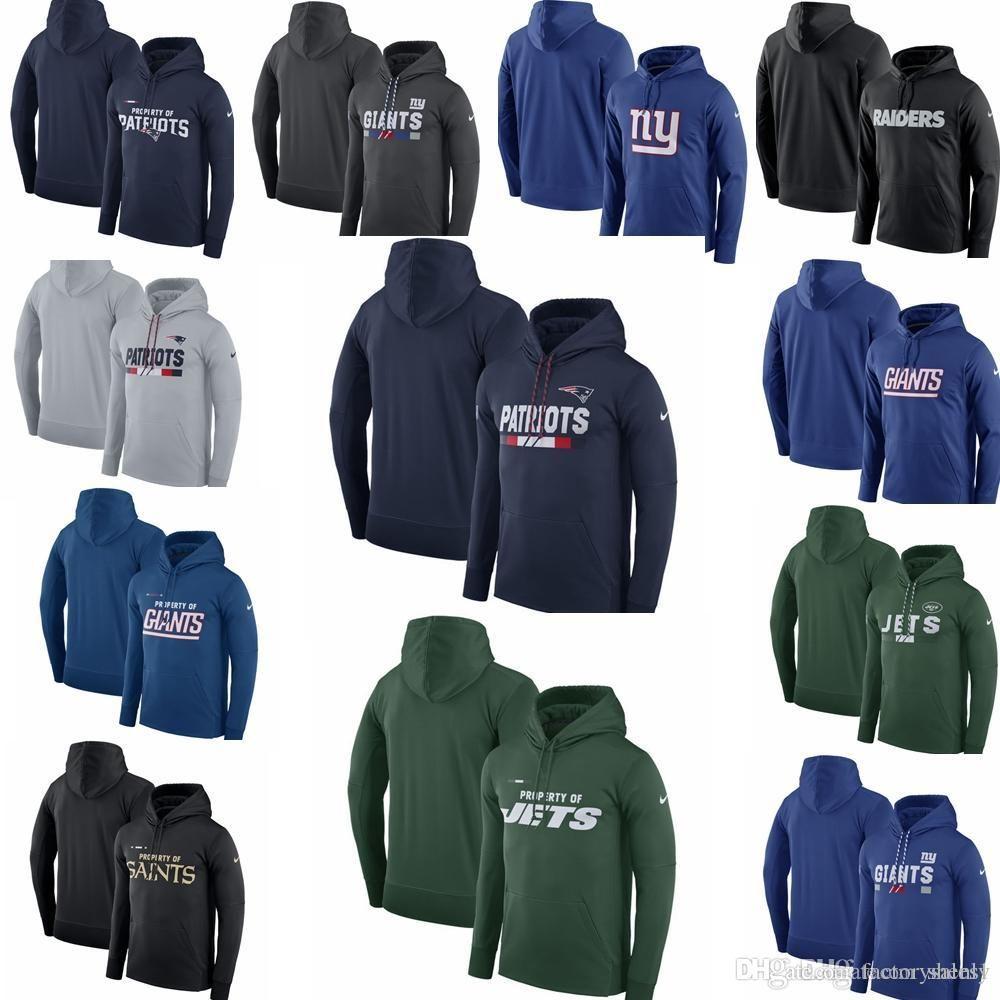 hot sale online 5bafa 8c50d Cotton Hot sale NEW 2019 Vikings Patriots Saints Giants Jets Raiders 100%  Cotton Mens Team Name Performance Pullover Hoodie
