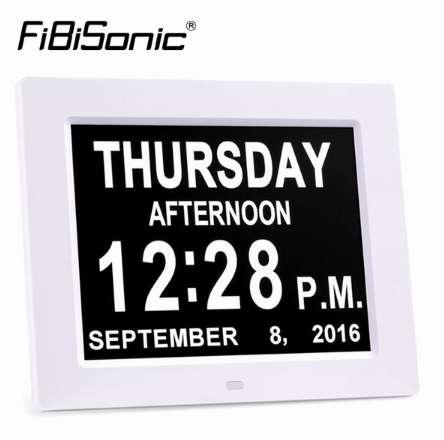 Extra Large 8inch Non Abbreviated Daymonth Digital Calendar Wall
