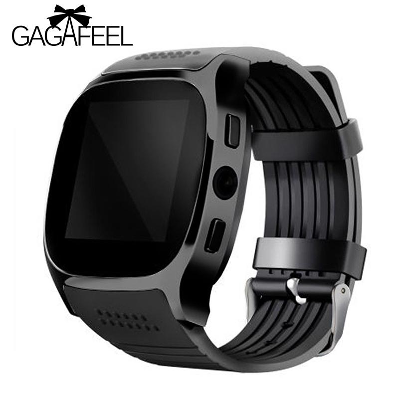 Gagafeel T8 Bluetooth Smart Watch With Camera Facebook Whatapp Support Sim Tf Card Call Men Women's Smartwatch For Android Phone Y19052103