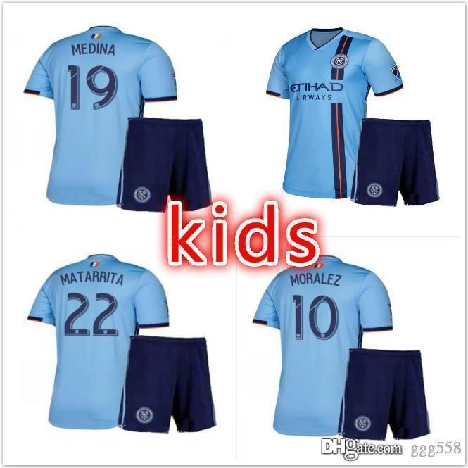 half off 71a7d a25e5 KIDS 2019 2020 NEW YORK CITY FC RING MORALEZ MEDINA MATARRITA MITRITA  soccer jersey uniform kits boys Child football shirts kit