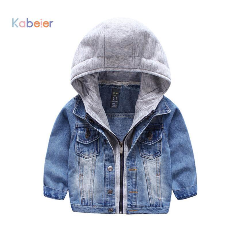 37a9605c4 Kids Denim Jacket For Boys Jean Coat Clothing Fashion Causal Girls ...