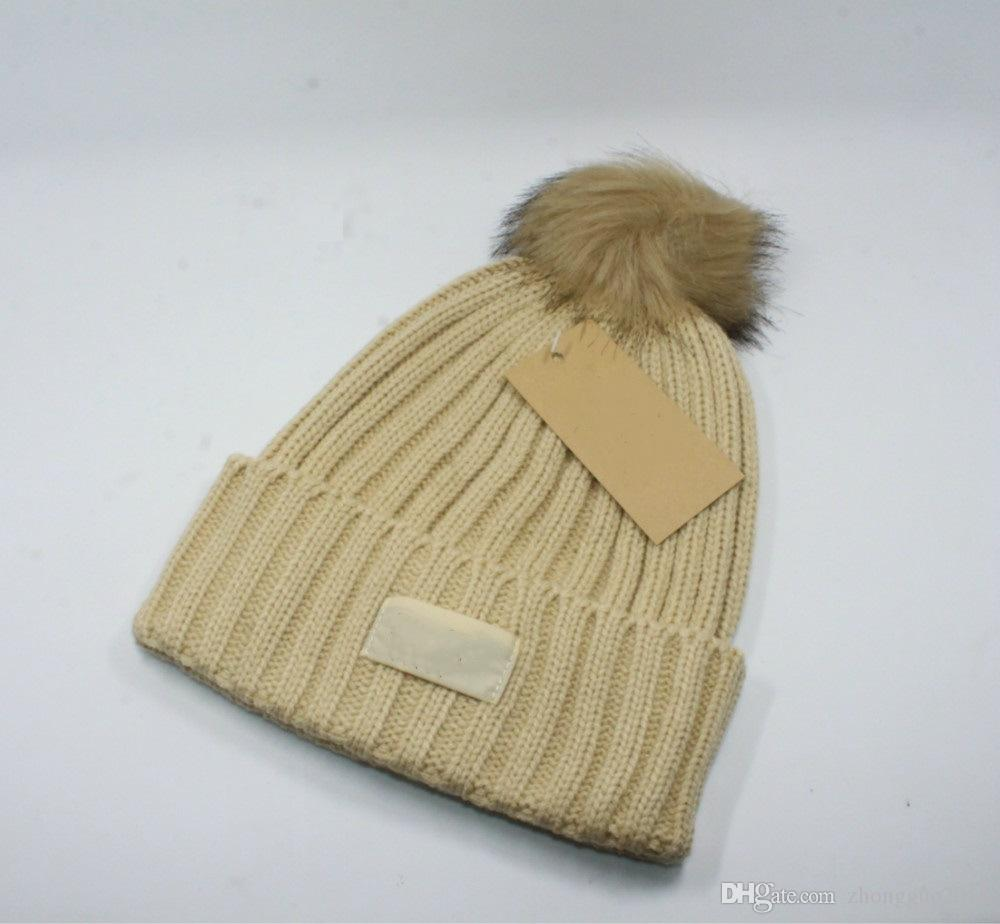 Winter Hot Women Luxury Soft Knit Hat Brand Designer Beanie Soft Warm Hats  Men Outdoor Sports Hats 6 Style Cap Crochet Baby Hats Ladies Hats From ... 787221a9db0