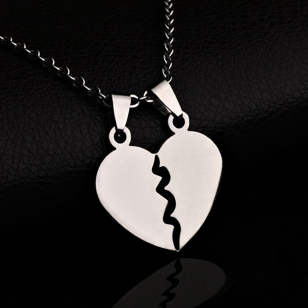 f6486e0fa0 2019 BNWIGE 2019 New Couples Jewelry Broken Heart Necklaces Couple Necklace  Stainless Steel Engrave Love You Pendants Necklace From Value222, ...