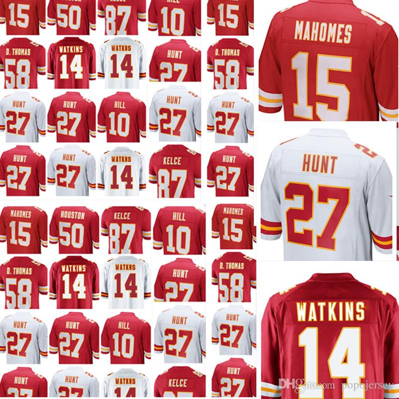 pretty nice 74184 5ac47 Kansas City Chief 15 Patrick Mahomes II jersey Stitched Kansas City 10  Chiefs Tyreek Hill 27 Kareem Hunt 87 Travis Kelce