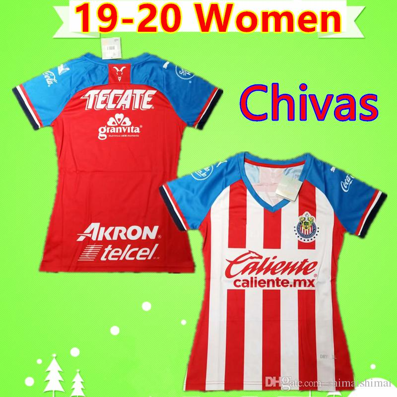 sports shoes b18b8 f072a Women 19 20 new Chivas jersey mexico 2019 2020 soccer jersey guadalajara  girls uniforms ladies football shirt #11 BRIZUELA #9 PULIDO E.VEGA