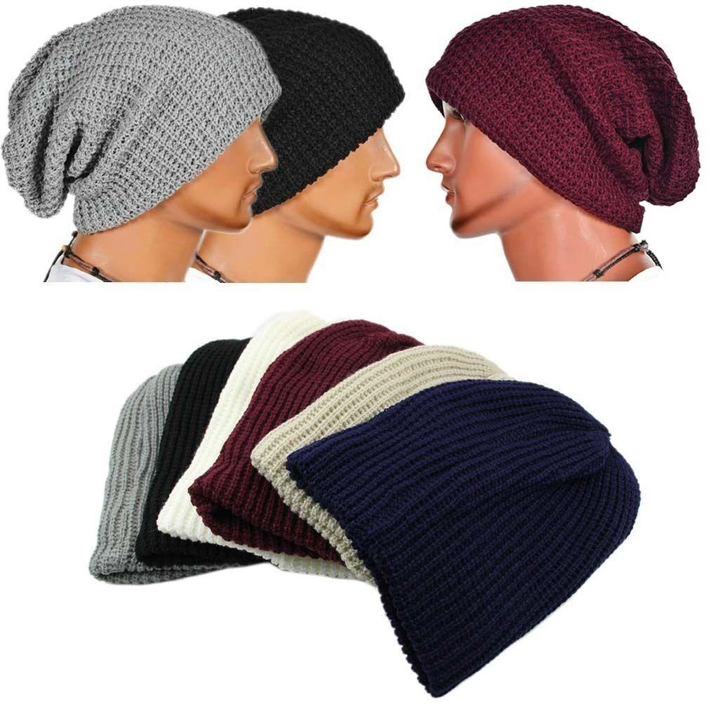2019 Women Men Knitted Baggy Beanie Soft Hat Winter Warm Oversized Ski Cap  Hats From Miaoshakuai 44c1694e762