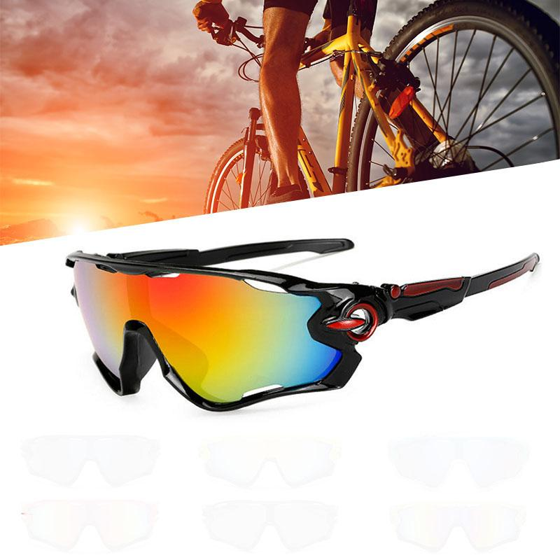 Hot Cycling Sunglasses Outdoor Sports Sand-proof Polarized Bicycle Goggles Women Men Riding Bike Glasses Drop shipping