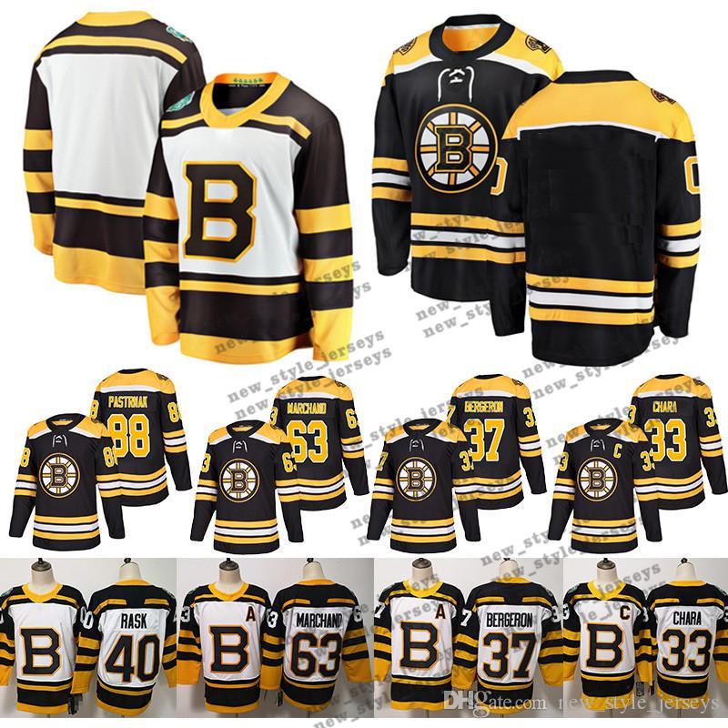 sale retailer 6132d b0c25 88 David Pastrnak Boston Bruins Winter Classics 2019 Fanatics 33 Zdeno  Chara 37 Patrice Bergeron Hockey Jerseys 63 Brad Marchand