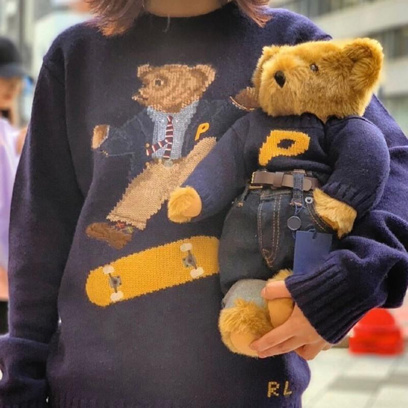 b497fc83a 2019 18FW PLC X R A L P H Skate Polo Bear Sweater Knitted Sweater Classic  Sweatshirt Street Couple Pullover Autumn Winter HFLSMY053 From Mellery, ...