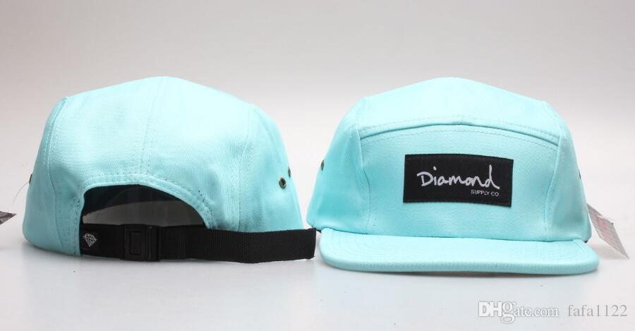948225b4ac2 2019 New Style High Quality Diamond 5 Panel Snapback Hats Hip Pop ...