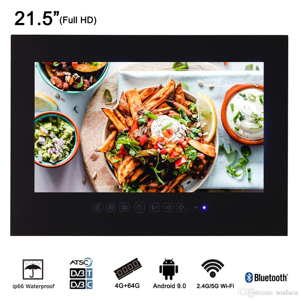 0d6372c53 Compre Soulaca 21.5 Polegadas Android Hotel À Prova D  Água TV Painel De  Vidro Sem Moldura Banheiro LED Full HD 1080 Preto À Prova D  Água Preto  Branco TV ...