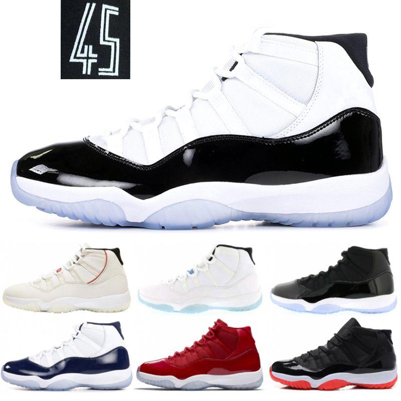 cheap for discount 2b7d4 49e1c Nuevo 11 XI Hombres Zapatillas De Baloncesto Concord 45 Space Jam Platinum  Tint Win Like 96 Bred 11s Zapatillas De Deporte De Diseño Mujeres Zapatos  ...