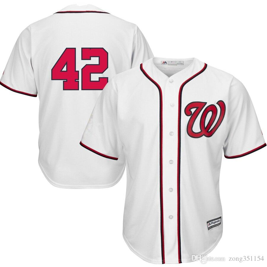 a0374116f93 New Nationals Majestic 2019 Jackie Robinson Day Official Cool Base Jersey  White Baseball Jersey Designer Sportswear Suit T-Shirt Designer Sportswear  Suit ...