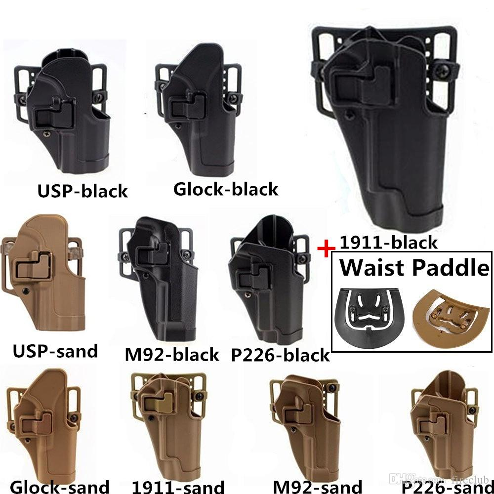 Compact Belt Holster Quick Draw Right Holster Paddle Waist Belt For 1911  M92 P226