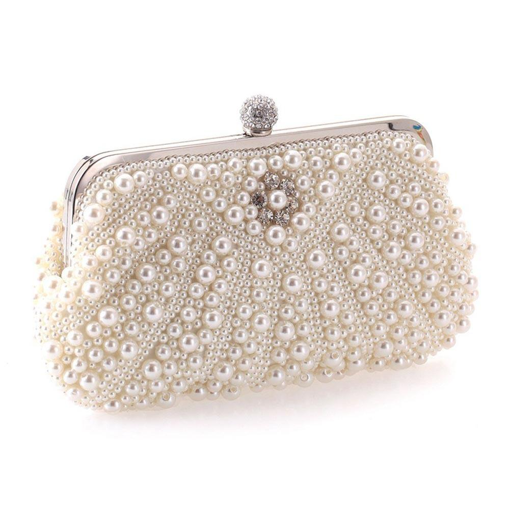7a4e840c17 2019 Fashion Lady Evening Bags Gorgeous Imitation Pearl Crystal Beading  Bridal Wedding Party Clutch Bag Women Handbags High Q Luxury Handbags  Leather ...