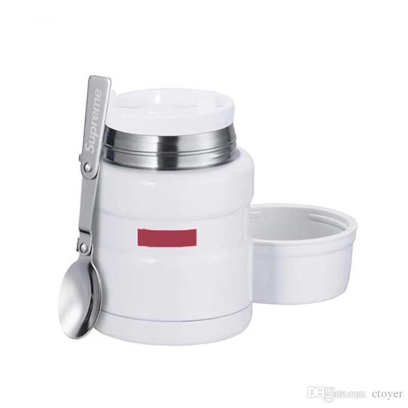 Cuillère New 2018 King En Brand Fw18 Redwhite Inoxydable Bocal À Thermos Cool Beaker Acier K1cJlTF3