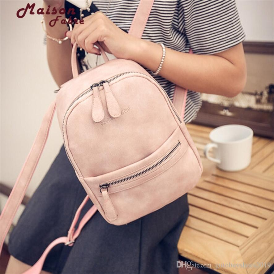 dd09c164c1a2 fashion women leather backpack for teengaers girls famous designer cute  school bags ladies high quality female backpacks 1012#23 #302797
