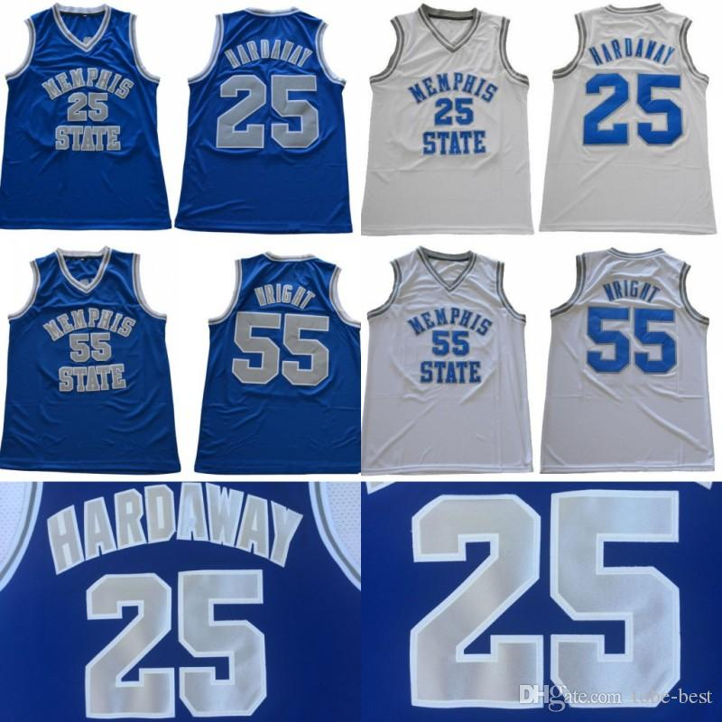 new concept 2c029 09be6 NCAA Mens Memphis Tigers 25 Penny Hardaway 55 Lorenzen Wright College  Basketball Jerseys Vintage Memphis State Hardaway Stitched Basketball