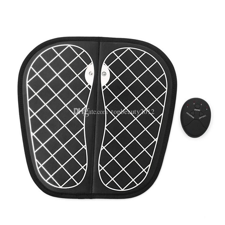 Electro Stimulation EMS Foot Massager Dispositivo di massaggio terapie elettroshock Stimolatore muscolare Macchina Piedi Health Care