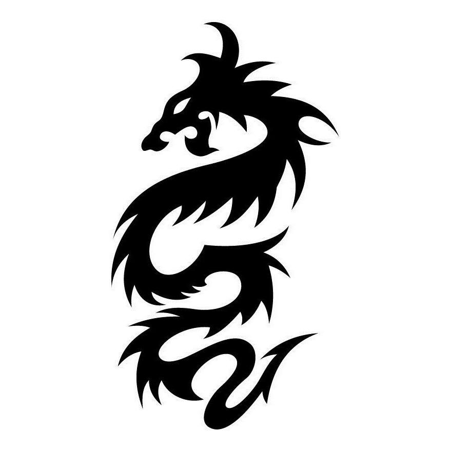 car sticker dragon tribal vinyl side graphic decal Motorcycle SUVs Bumper Car Window Laptop Car Stylings
