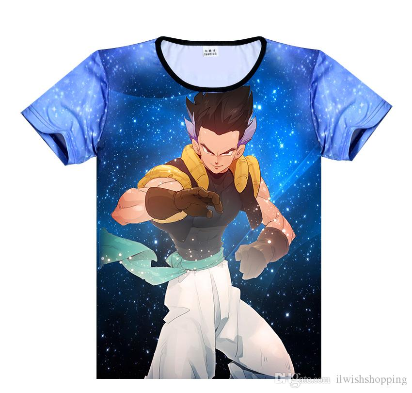 2019 Harajuku Style Classic Anime Dragon Ball Z Super Saiyan 3D T Shirt Bright Fire Son Gohan T-shirt Casual Tees Tops