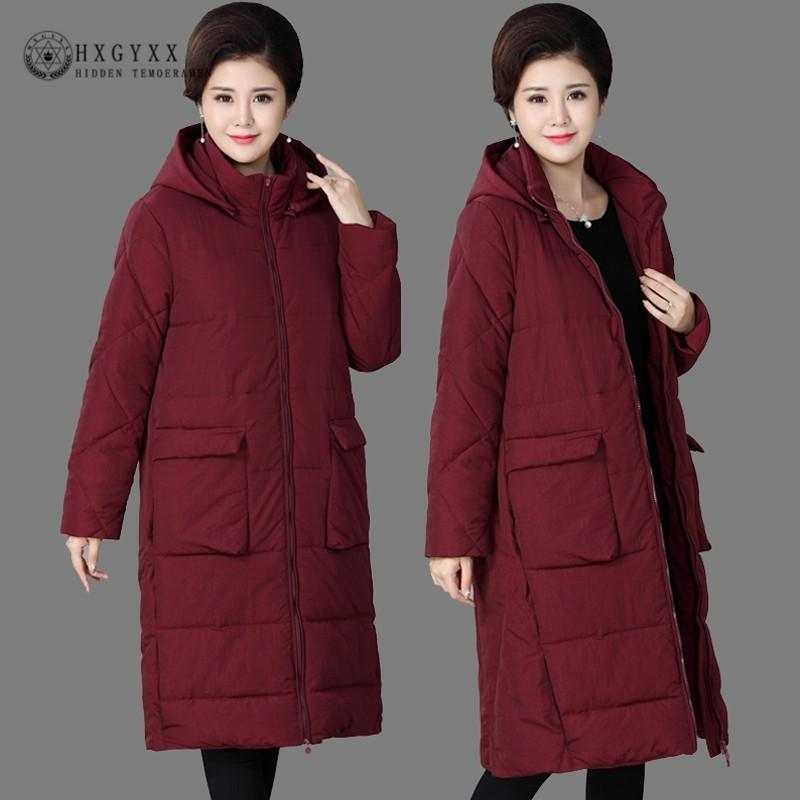 b07a9c47e88 2019 4XL 2018 Long Parka Female Coat Winter Jacket Woman Clothes Plus Size  Thick Warm Overcoat Cotton Outwear Korean Snow Wear OKD736 From Caicloth