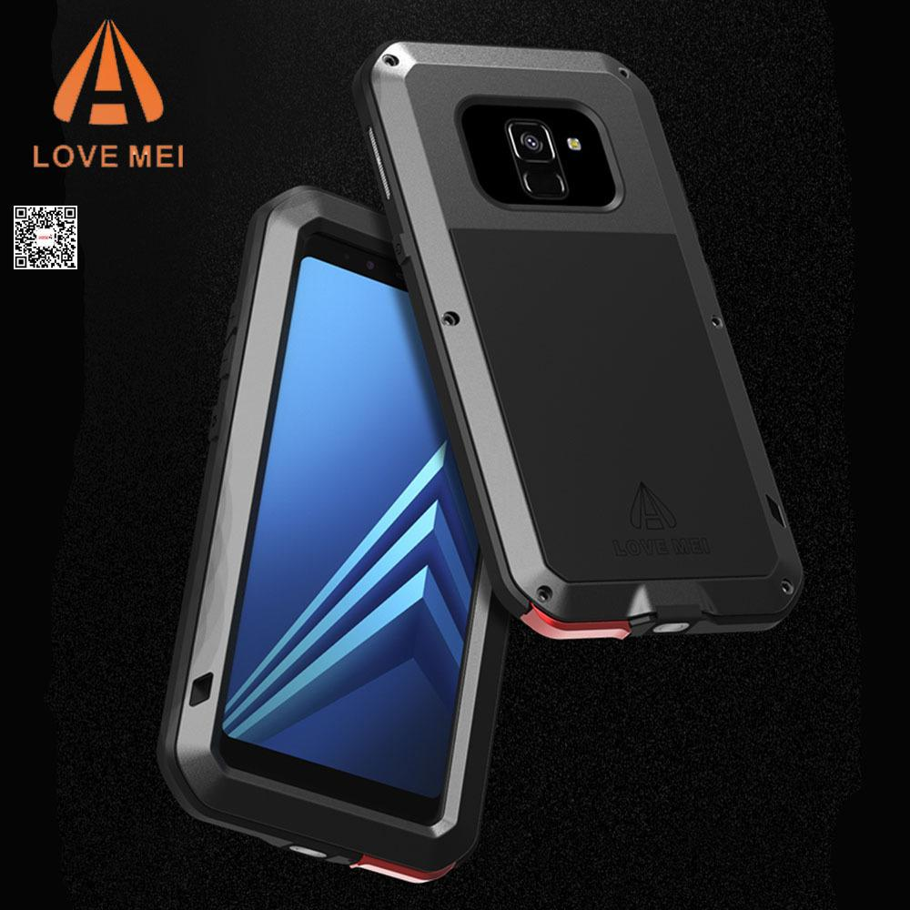 c3e605ff8a7 Compre Para Samsung Galaxy A8 2018 Funda LOVE MEI Shock Dirt Proof  Resistente Al Agua Cubierta De Metal Para Teléfono Funda Para Galaxy A8  Plus 2018 ...