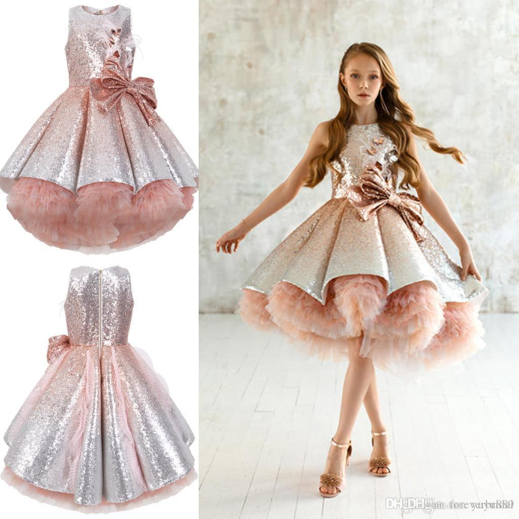 2019 New Arrival White Lace and Tulle Flower Girl Dress Short Sleeve Sash Layed Tutu Skirt Kids Formal Wear Dresses Custom Made