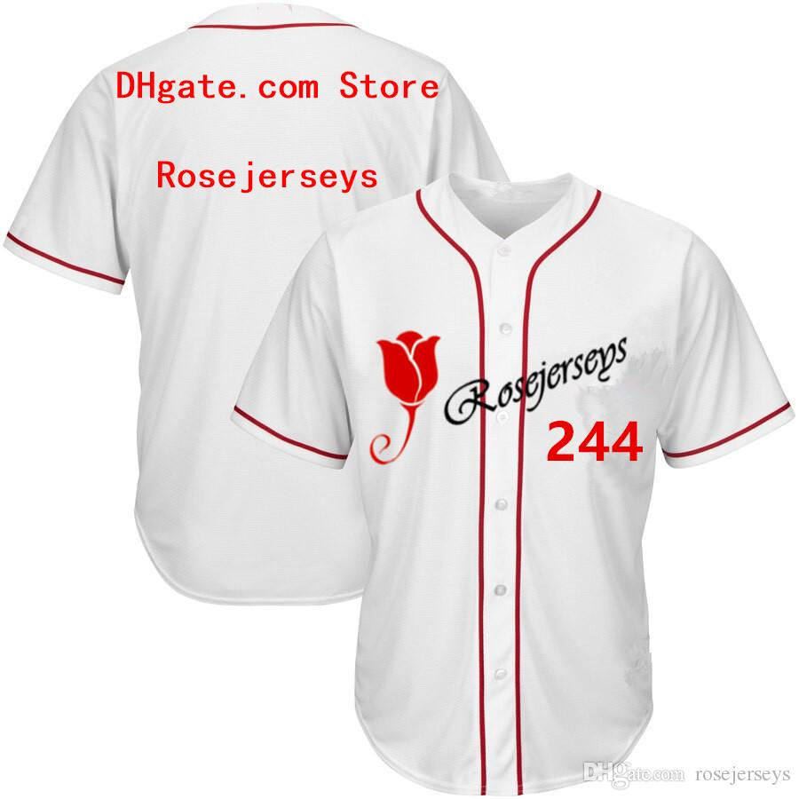 RJ123-244 Baseball Jerseys # 244 Männer Frauen Jugend Kind Erwachsene Dame Personalized Stitched Any Your Own Name Number S-4XL