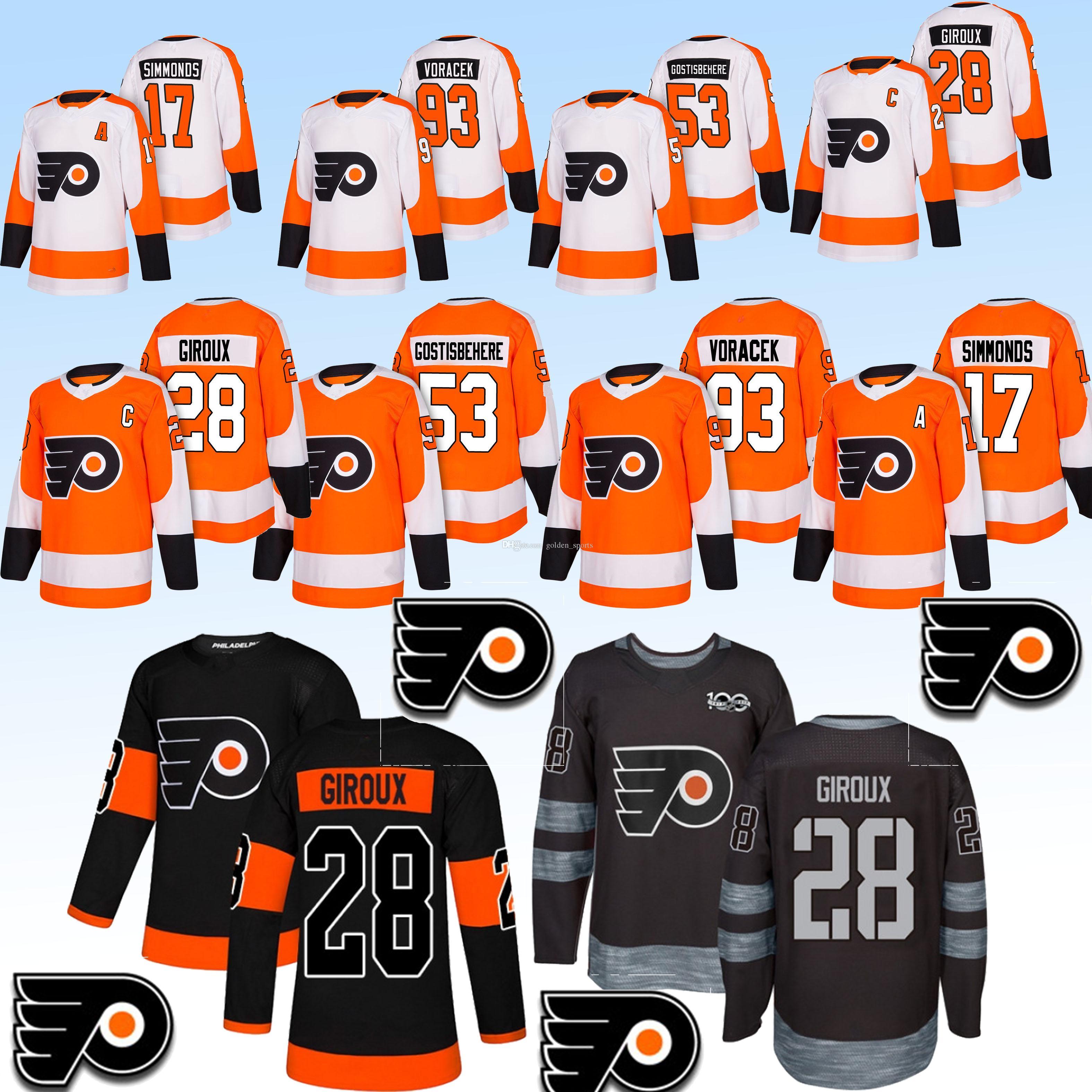 a09df7220ac 2019 Philadelphia Flyers Jerseys 9 Ivan Provorov 17 Wayne Simmonds 28  Claude Giroux 19 Nolan Patrick Ice Hockey Jersey Shirt Long Sleeves Top  From ...